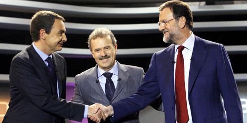 Debate Zapatero-Rajoy (foto:EFE)